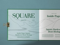 Free Open Square Psd Catalog Mockup