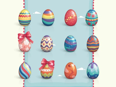 Free Vector Easter Eggs Set