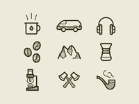 Pour Coffee Parlor Icons