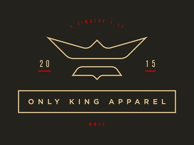 OKA Logo bible shirt king black dove only god jesus crown fesyuk marco illustration