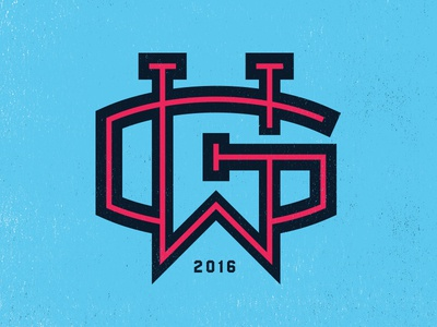 GW Monogram illustration marco fesyuk sports hockey soccer baseball gw monogram black king shirt
