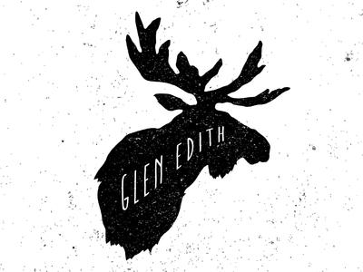 Glen Edith Moose roast hipster logo brand marco fesyuk illustration pour coffee icons moose wilderness