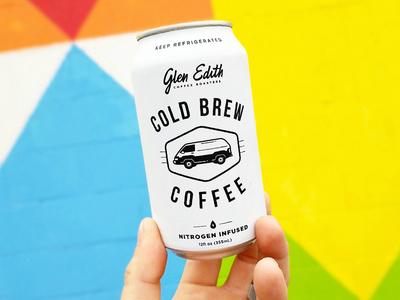 Glen Edith Nitro Coffee Can van icons parlor coffee pour can fesyuk marco brand logo hipster roast