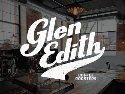 Glen Edith Throwback script cursive roast hipster logo brand marco fesyuk pour coffee parlor icons