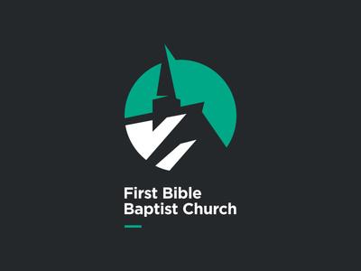 FBBC Logo mark stylized baptist bible fesyuk marco brand logo gray green building church