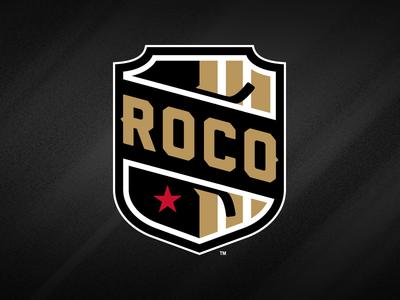 ROCO Hockey Logo illustration marco fesyuk sports hockey rochester shield monogram black blade star