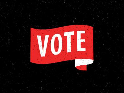VOTE illistration logo brand vote flag typography black red campaign register fesyuk marco