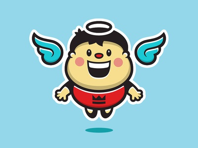 Angel Boy boy angel shirt king black only god jesus crown fesyuk marco illustration