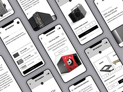 Touring Loudspeakers Website design ui mobile ui web design mobile design speaker sound website design website mobile