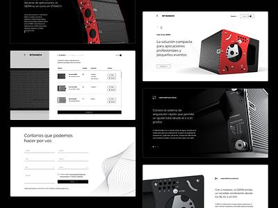 Touring Loudspeakers Website ui speaker sound website design web design website web landingpage landing