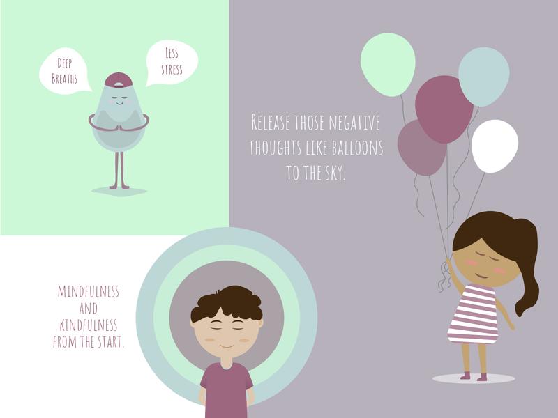 Elizabeth Ember Illustrations flat design clean mindfulness minimal children flat illustration illustrator