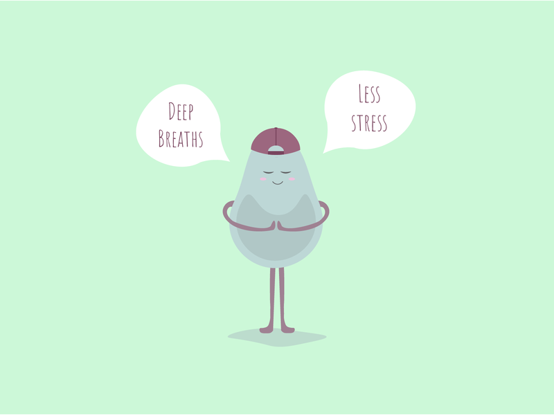 EE's Pear Guy illustrator mindfulness branding quotes clean flat illustration illustration