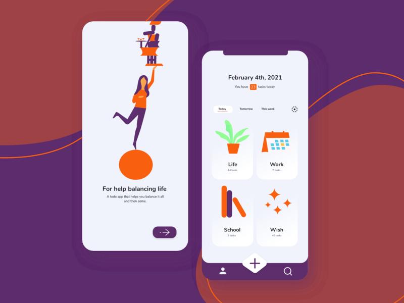 TODO app todo flat minimal design app