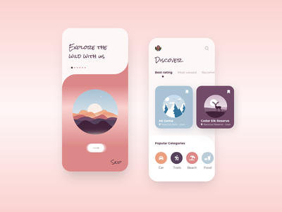 Adventure App discover nature mountains xd travel app travel minimal ui design flat clean app
