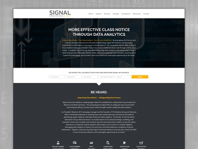Signal Interactive forms css html responsive legal website