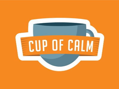 Cup Of Calm Badge illustration