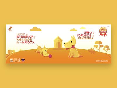 Funny Pets illustrations dog illustration dogs dog petshop pets logotype ui graphic design logo illustration branding vector design illustrator