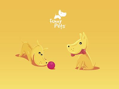 Illustrations for Funny Pets identity pettoy petshop pets pet illustration art flat ui graphic design logo branding vector design illustrations minimal illustration illustrator