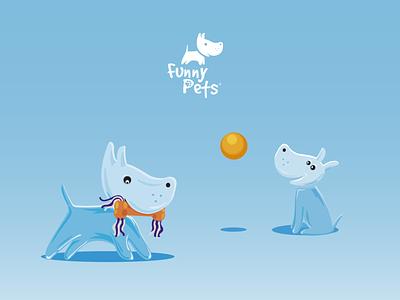 Illustrations for Funny Pets illustrator illustration minimal illustrations design vector branding logo graphic design ui flat illustration art pet pests petshop pettoy identity