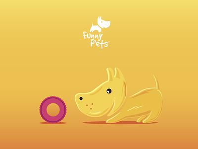 Illustrations for Funny Pets illustrator illustration minimal illustrations design vector branding logo graphic design ui flat illustration art pet pets petshop pettoy identity