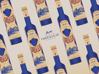 Tequila Corralejo tequila brand identity brand brand design ui flat graphic design logo minimal illustration illustrator branding vector design