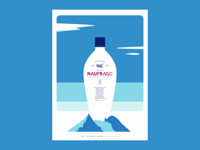 Naufrago illustration digital illustration art rum poster design poster minimalism poster art flat graphic design branding minimal illustration illustrator design vector