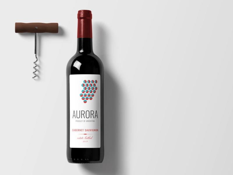 Aurora wine label wine label design wine labels label wine typography vector branding design label design