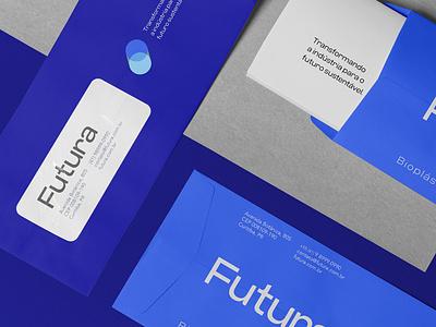 Brand Future Bioplastics design grids brand logomarca papelaria typography icon logo identity
