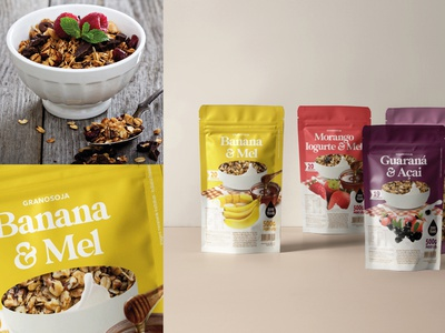 Packaging for soy granola identity rótulo package mockup packaging design packages design packagedesign package design packaging package embalagem