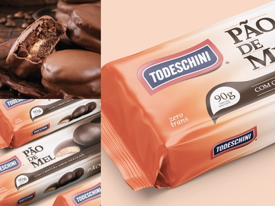 "Packaging ""Pão de Mel"" for Todeschini Alimentos design label embalagens rótulo embalagem package packaging packaging design packages package mockup package design packagedesign"