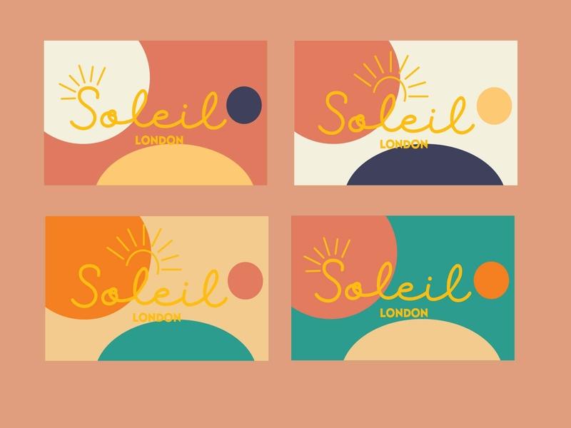 Soleil London lettering type art minimal logo vector illustration flat design branding