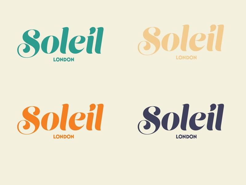 Soleil London pt.2 illustrator minimal vector typography lettering logo flat illustration design branding