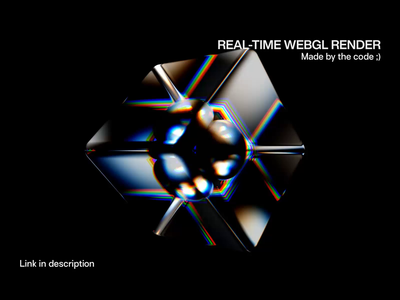 WebGL Morphing Geometry animation 3d art motion design motion graphic loop iridescent glsl realtime glass colorful spectrum 3d animation creative webgl 3d