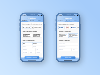 Daily UI 002—Credit Card Checkout