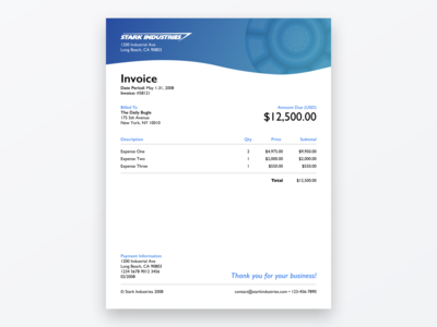 Daily UI 046—Invoice marvel daily bugle stark industries receipt invoice ui design ui interface figma design dailyuichallenge daily ui 046 daily ui dailyui daily 046 daily pdf