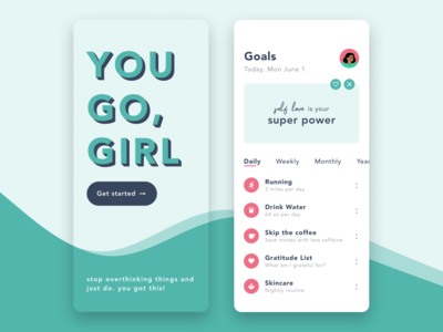 Daily UI 049—Notifications motivation girl power self love notifications ui design ui interface figma design dailyuichallenge daily ui 049 daily ui dailyui daily 049 daily app design app