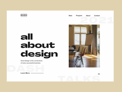 Dash Talk website simplicity white talk event web design branding ux ui