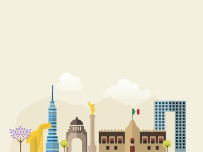 Mexico City tbt graphic design flat illustration mexico city cdmx mexico