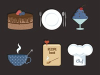Icons for cooking website