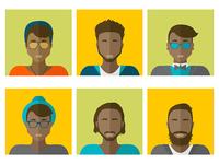 Flat avatar set