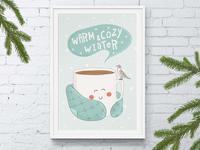 Warm winter print