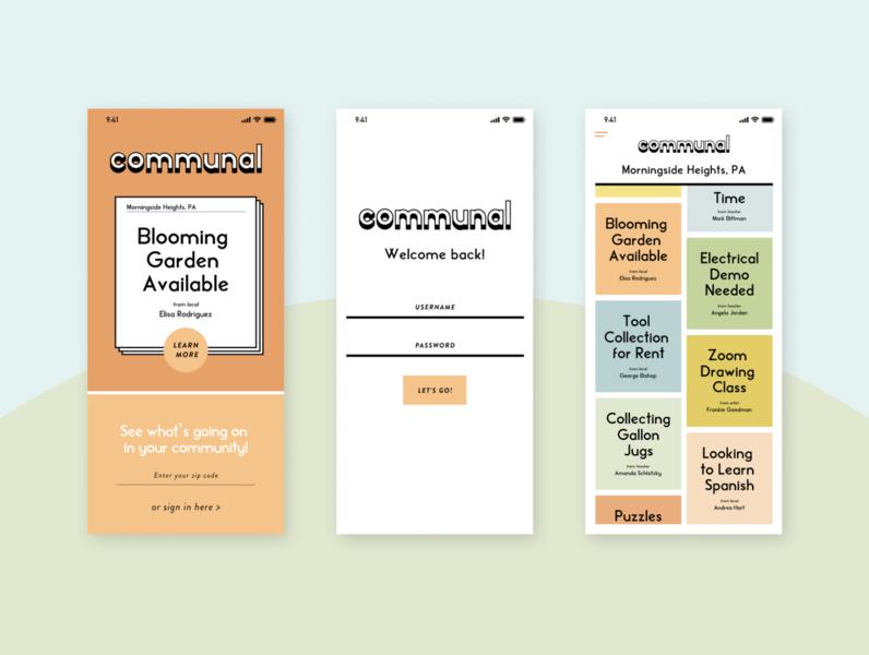 Community Message Board App concept work social media design social network typography logo ui ux branding design app community