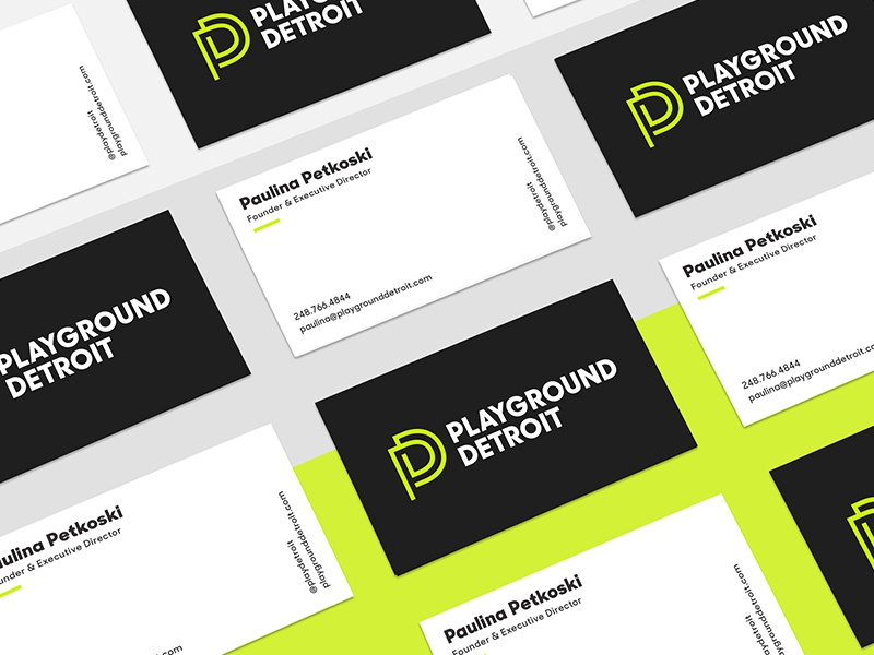 Playground detroit business cards by abe zieleniec dribbble colourmoves