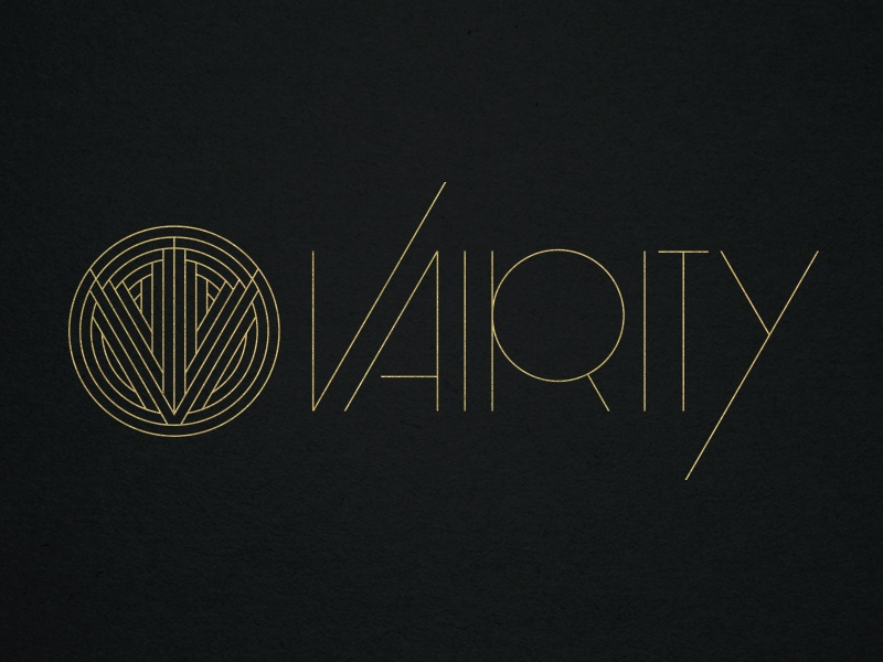 vairity art deco logo by abe zieleniec dribbble. Black Bedroom Furniture Sets. Home Design Ideas