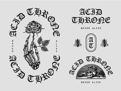 Acid Throne evil blackletter illustration shred metal death throne acid