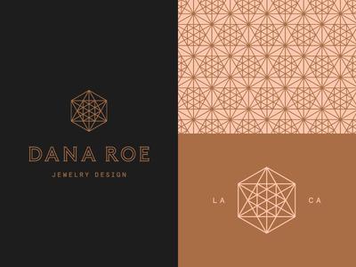Dana Roe 01 cosmic geometric mono line logo branding geometry sacred designer jewelry