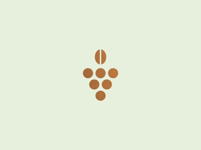 The Ministry bean grapes texture foil copper logo branding cafe restaurant bar coffee wine