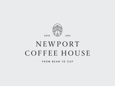 Newport Coffee House identity brand mark logo serif classic house coffee newport