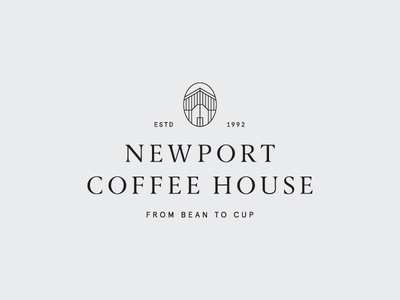 Newport Coffee House identity brand mark logo serif classic house coffee newport