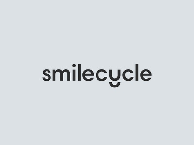 Smilecycle dental brand mark smile word mark identity branding logo smilecycle